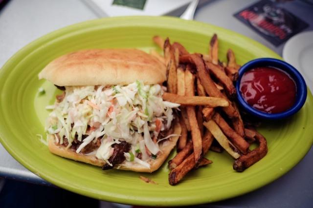Hula's Island Grill - Pork sandwich