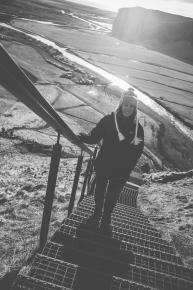 Skógafoss - stairway