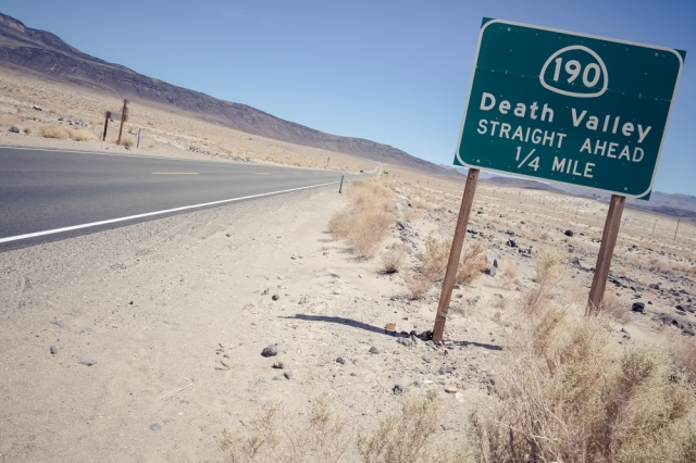 Death Valley Sign Post