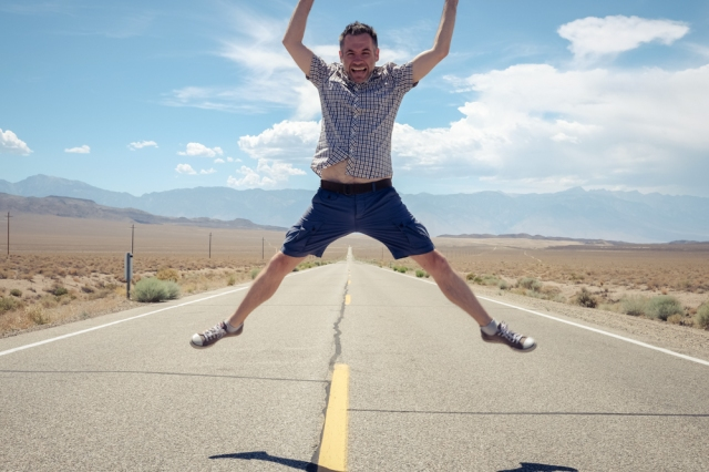 Jumping in Death Valley