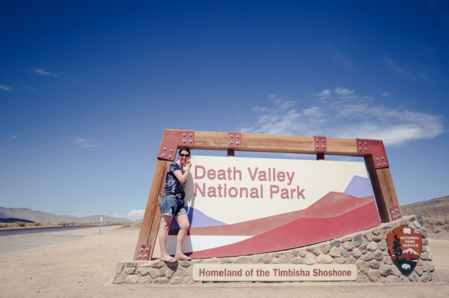 Death Valley National Park Sign Pose - Leigh Shaw