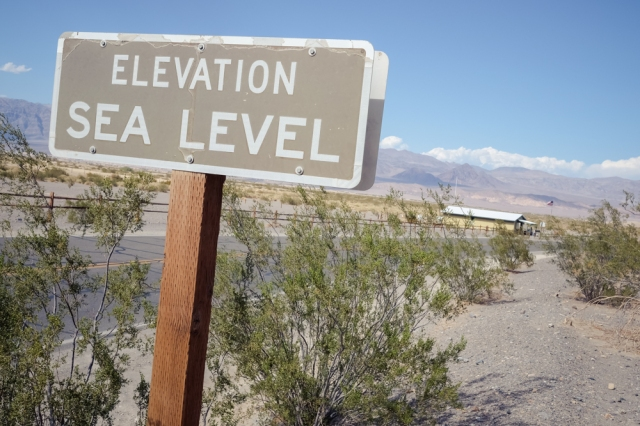 Death Valley - Elevation Sea level Sign