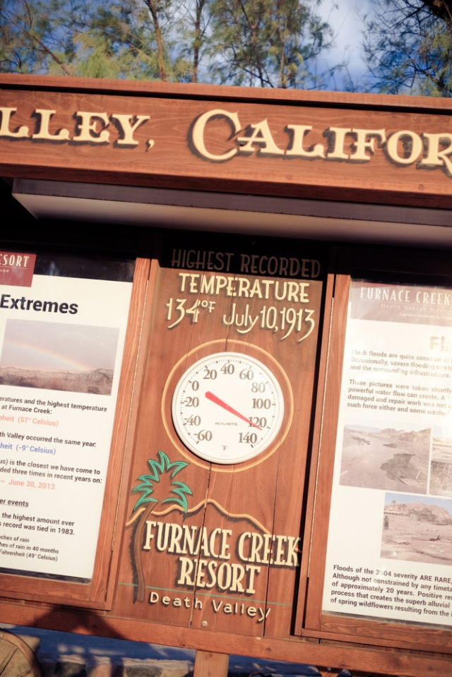 Furnace Creek Resort Temperature Gauge