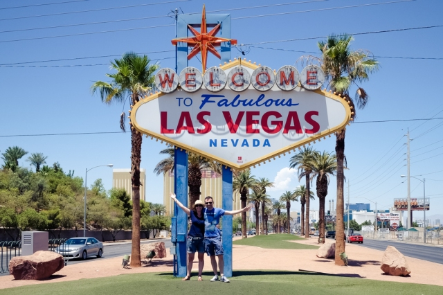Las Vegas Sign - Leigh and Tim